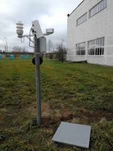 Автоматическая метеостанция Luft WS600 + Лазерный датчик высоты снежного покрова Lufft SHM30 + датчики температуры грунта Vaisala DTS12G с аналого-цифровым преобразователем Vaisala DRA411 + датчик дождя Vaisala DRD11A