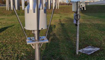 Лазерный датчик высоты снежного покрова Lufft SHM31 + автоматическая метеостанция Vaisala WXT530 + детектор осадков DRD11A + Осадкомер OTT Pluvio2